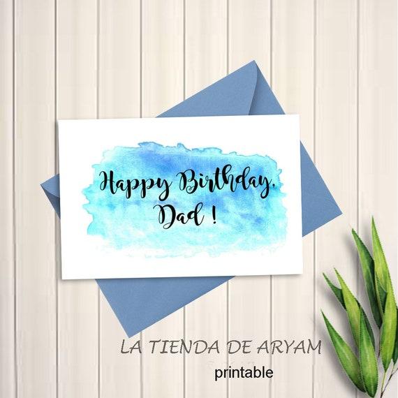 Happy Birthday Dad Birthday Card For Dad 5x7 Greeting Card Etsy