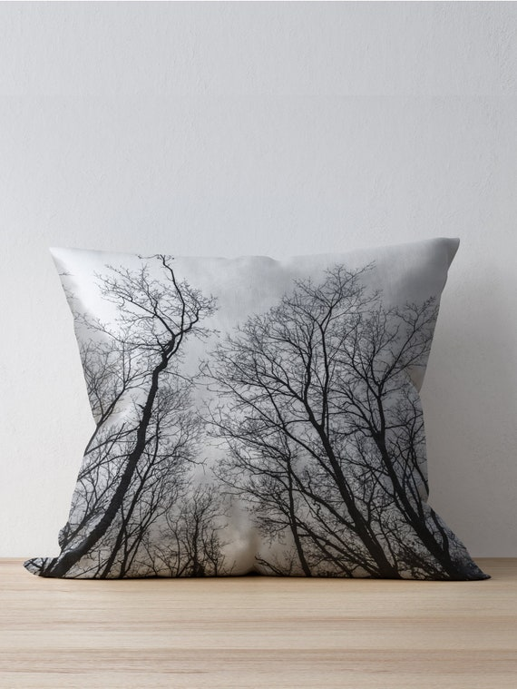 Groovy Black And White Pillow Case Tree Pillow Covers Couch Pillow Cases Black White Decorative Pillows Caraccident5 Cool Chair Designs And Ideas Caraccident5Info