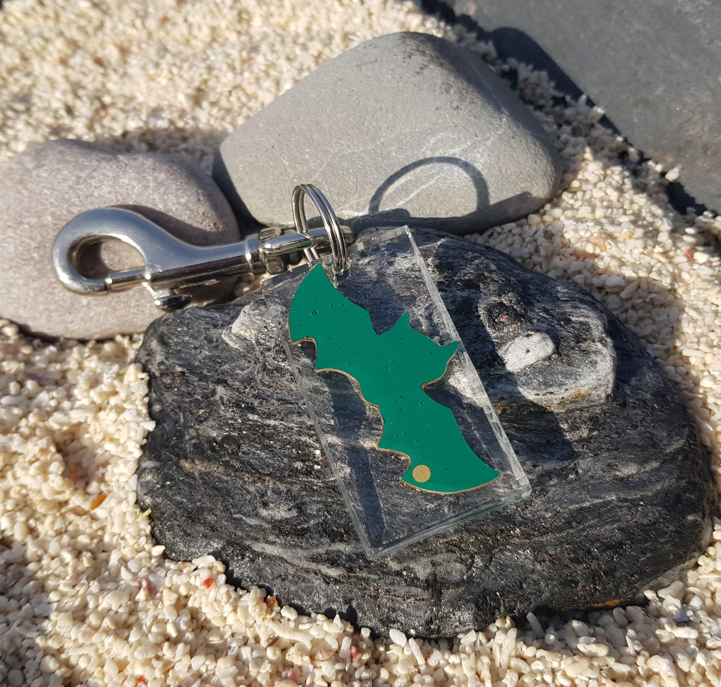 green gold circuit board bat keyring keychain eco friendly etsy