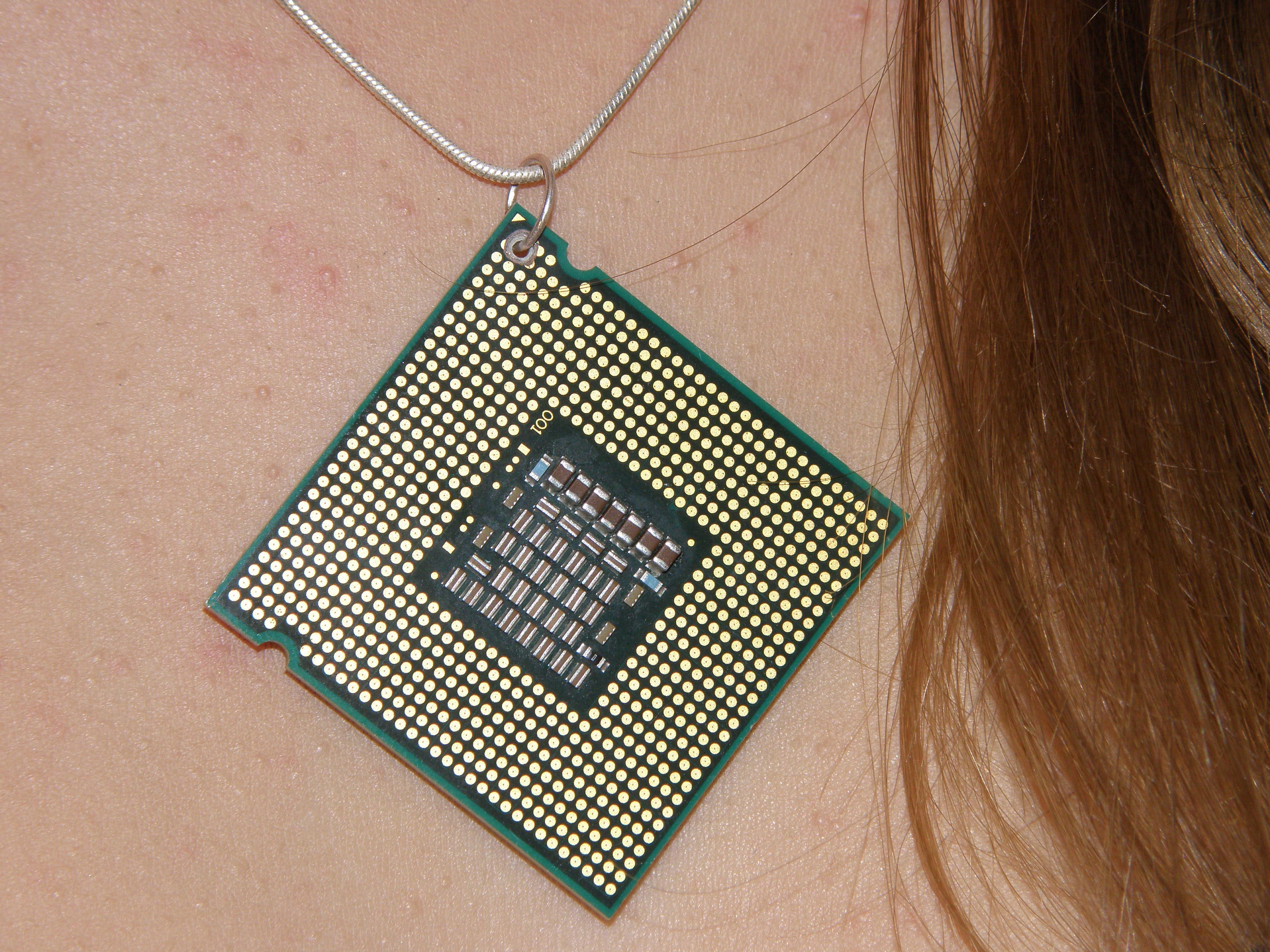square circuit board pendant necklace eco friendly recycled etsy