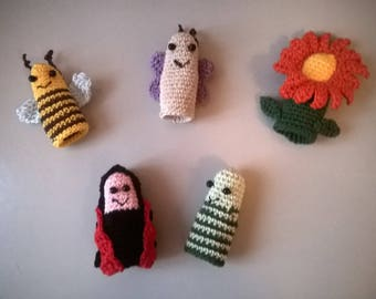 Finger puppets: friends of the lawn