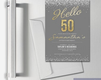 Personalised Birthday Adult A7 Invitation Thank You Cards
