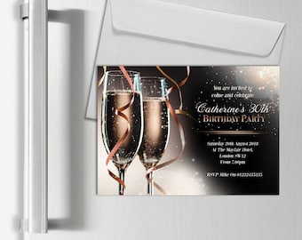 Personalised Magnetic Adult Invitations