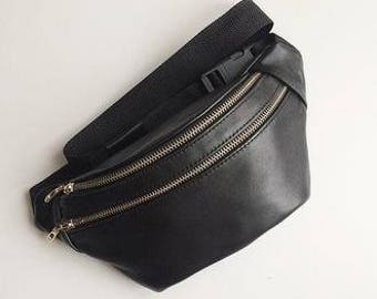 Leather fanny pack for Women belt bag  waist bag leather bag handmade leather belt bag  women waist bag bum bag leather waist bag Hip Pouch
