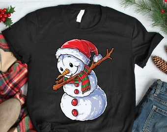 9cf1c4079345e Dabbing Snowman T Shirt Christmas Kids Boys Girls Men Women Dab Gifts Tee    Sweatshirt   Hoodie