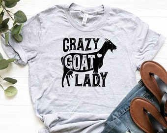 2faf636778 Crazy Goat Lady Shirt / Goat Shirt / Goat Gifts / Goats / Goat Tshirt / Goat  Tee / Goat Lover Gift / Goat T-shirt / Tank Top / Hoodie