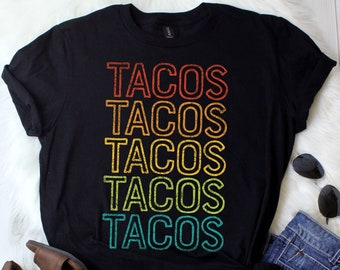 35550901a9 Tacos Retro   Taco Shirt   Taco Gifts   Cinco de Mayo   Taco Party   Taco  Tuesday   Taco Tee   Funny Taco Shirt   Tank Top   Hoodie