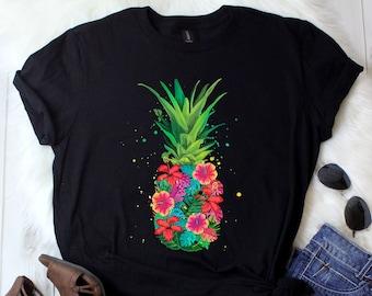 fc25160593bc Pineapple Shirt   Pineapple Flower   Pineapple Gifts   Be a Pineapple    Aloha Beaches   Hawaiian shirt   Watercolor   Tank Top   Hoodie