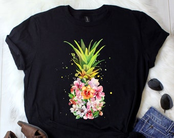 5f7bbc3c39 Pineapple Shirt   Pineapple Flower   Pineapple Gifts   Be a Pineapple    Aloha Beaches   Hawaiian shirt   Watercolor   Tank Top   Hoodie