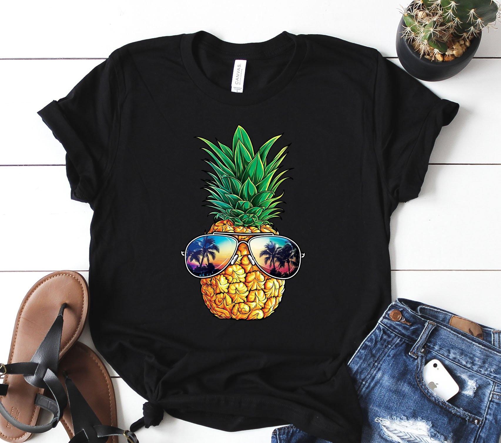 Ananas lunettes de soleil T hommes shirt garçons filles hommes T femmes enfants Aloha plages hawaïenne Tee / Mens Tank / nageur / sweat / Hoodie 019537