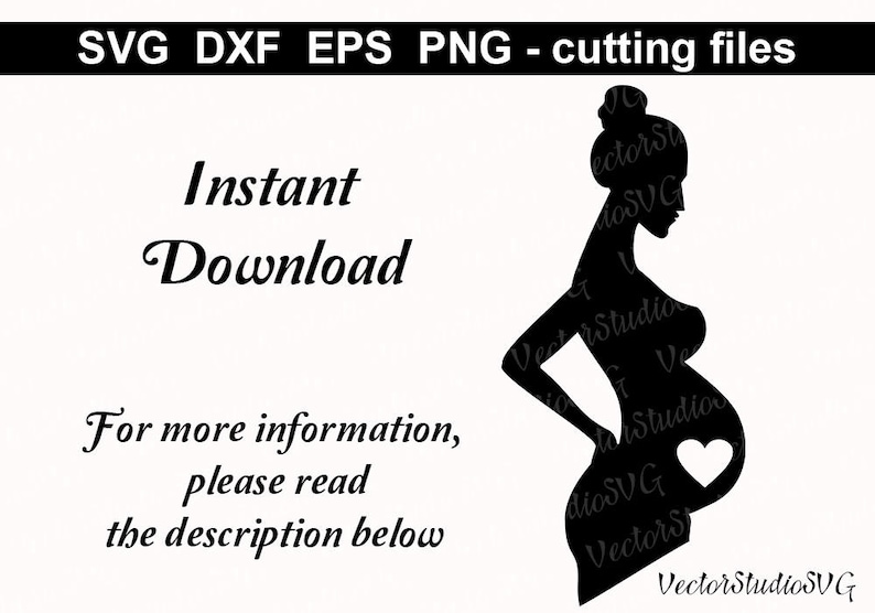 81abb9c5 Silhouette Pregnant Woman SVG Cut File Pregnancy Baby is   Etsy