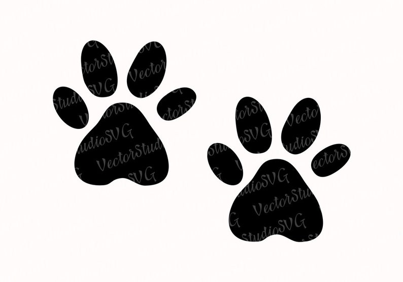 Cat Paws Svg Animal Paw Vector Clipart Dog Paws Png Silhouette Cutting  Files Paws Stencil Cat Lover Svg Commercial Use Svg Dxf Eps Pdf Png