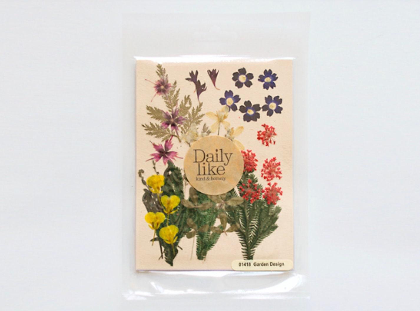 Pressed Flower Garden Design Dry Flower Vintage Flower Etsy