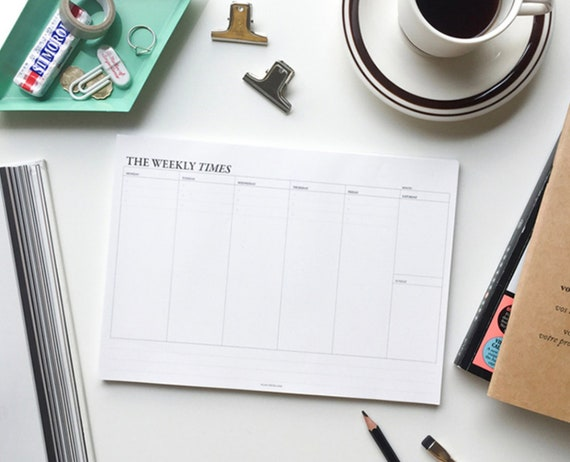 Weekly Desk Planner Large Planner Monthly Planner 2019 Etsy