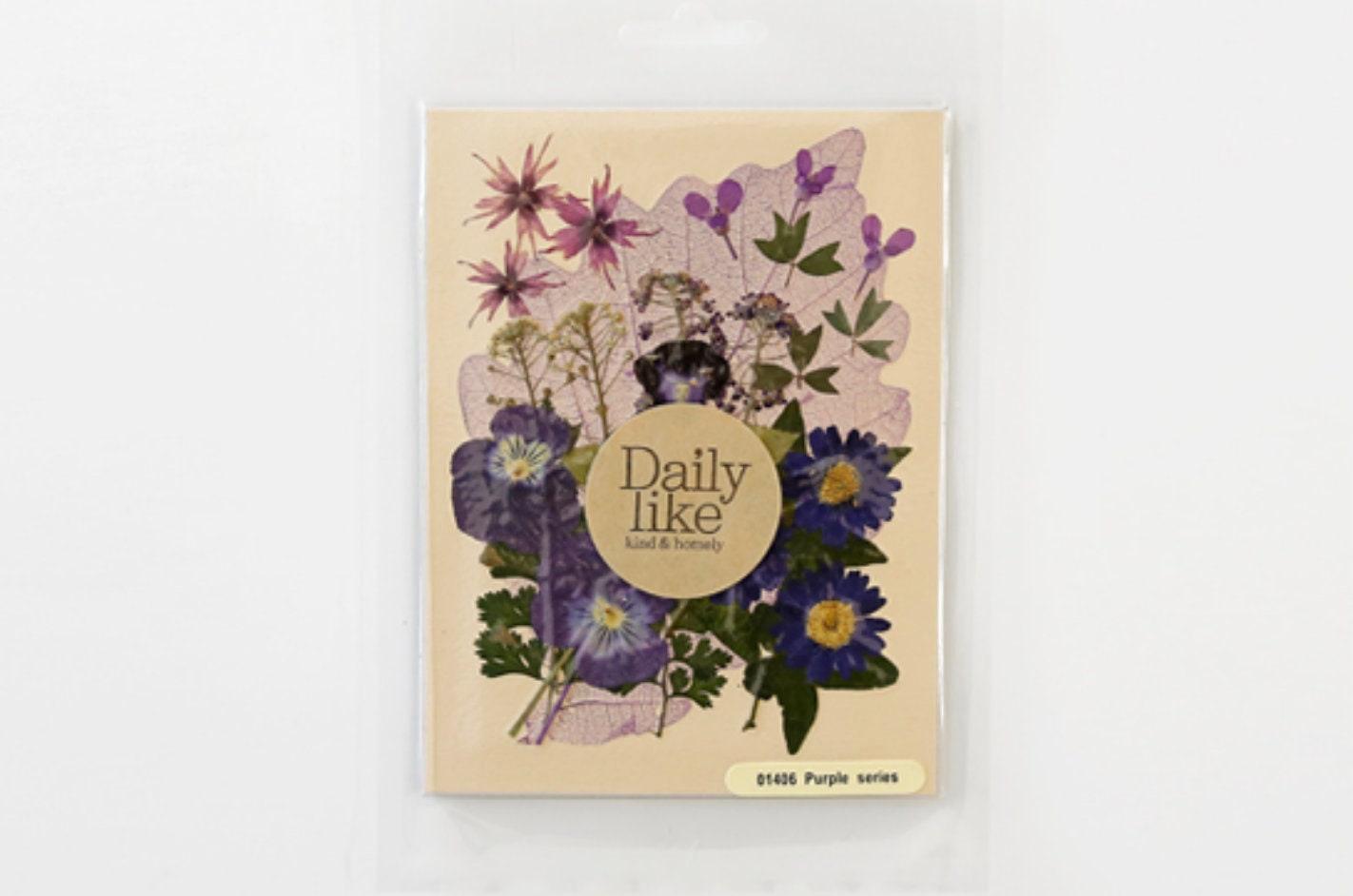 Pressed Flower Purple Flower Dry Flower Vintage Flower Etsy