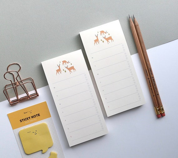 Briefpapier kawaii klebrige Anmerkungen wöchentlicher Planer aufkleber