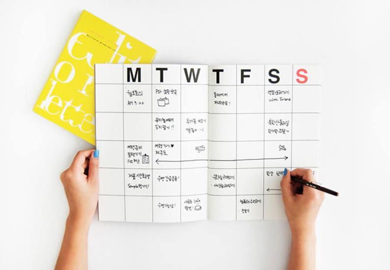 KRAFT MONTHLY PLANNER  Monthly Planner  Monthly Diary  image 0