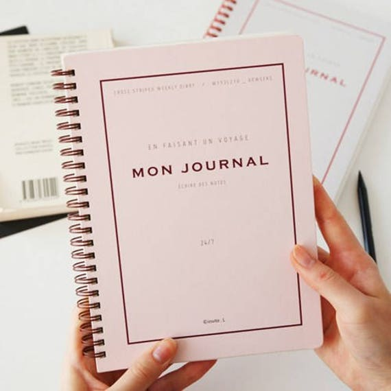 mon journal planner monthly planner yearly planner etsy