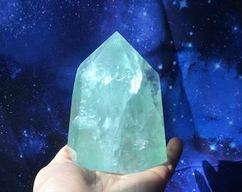 Beautiful fluorite point