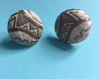 Vintage aztec art deco style paper earrings