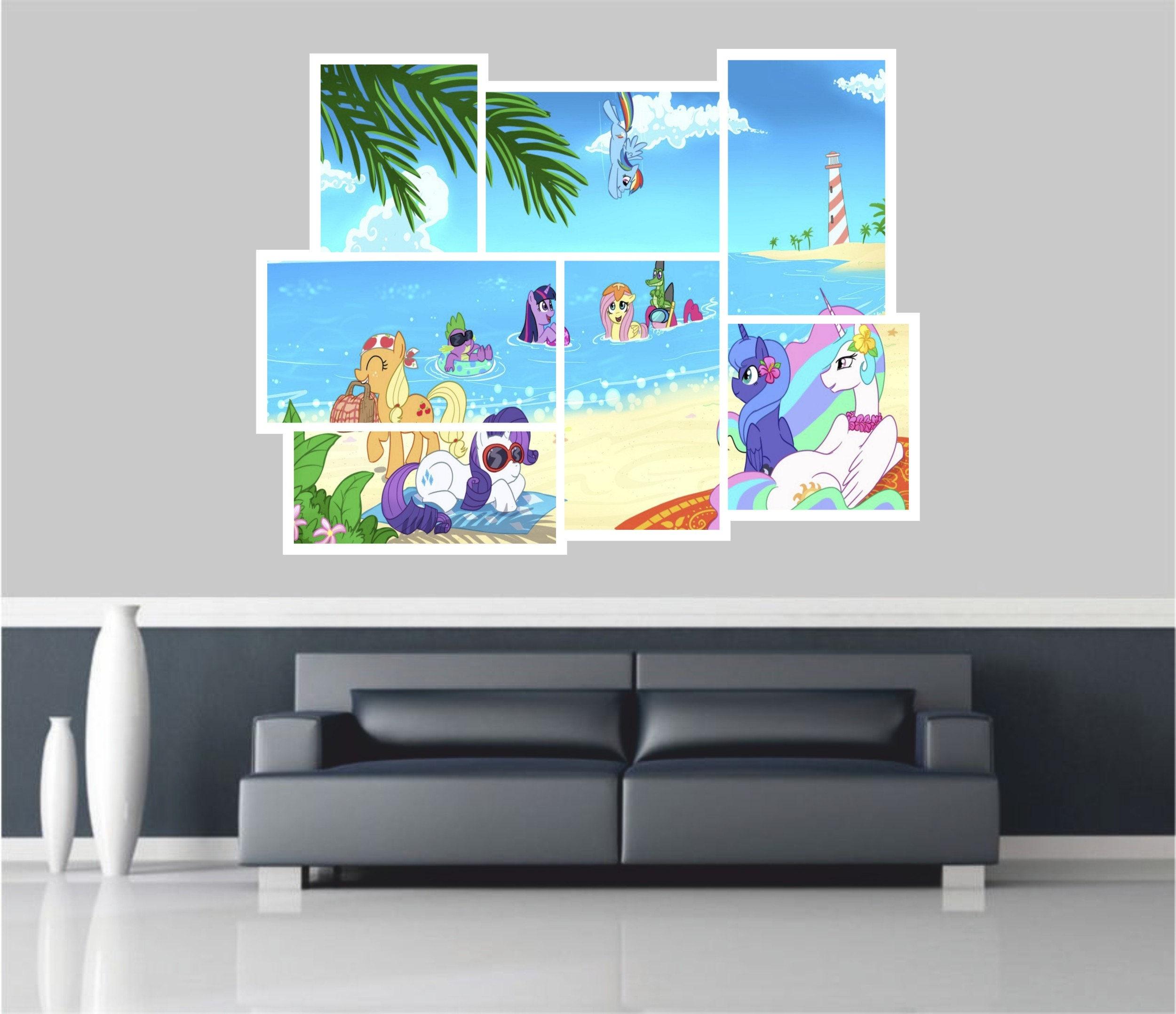Huge 3D Balcony Mclaren P1 Super Car Wall Stickers Wallpaper Mural 803