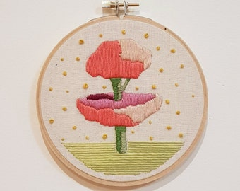 Manicured Tree in a Garden Embroidery