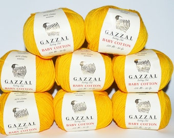 Gazzal baby  cotton   lot of 8 skeins