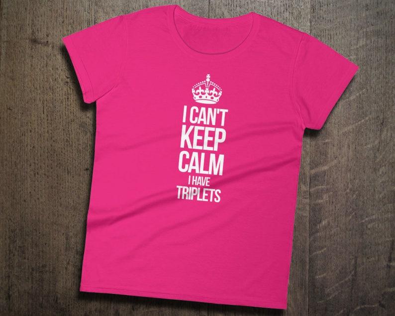 d19e1c8f Funny Triplets Shirt Ladies Short Sleeve Tee Triplets Gift | Etsy