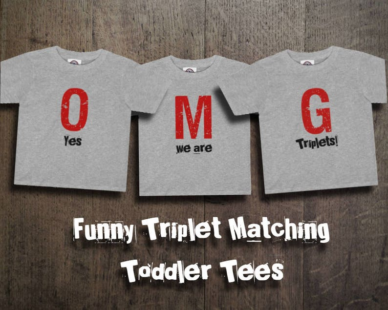 00ed5135 Gift For Triplets OMG Yes We Are Triplets 3 Matching | Etsy