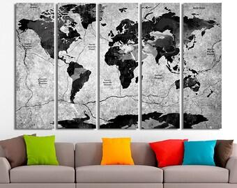 Black world map etsy world map art world map decor world map wall art world map canvas world map print world map poster world map photo black world map gumiabroncs Gallery