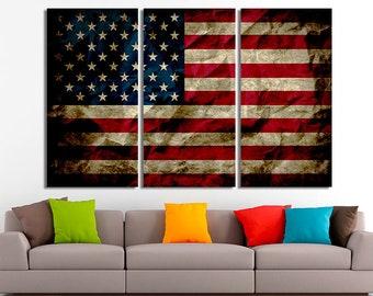 0f4749458217 American flag art American flag print American flag canvas USA flag canvas  USA flag print Large canvas Flag wall art Flag prints Flag poster