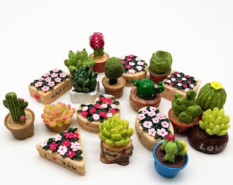 5pcs Dollhouse Miniature Resin Cactus DIY Plants Decoration T  zi