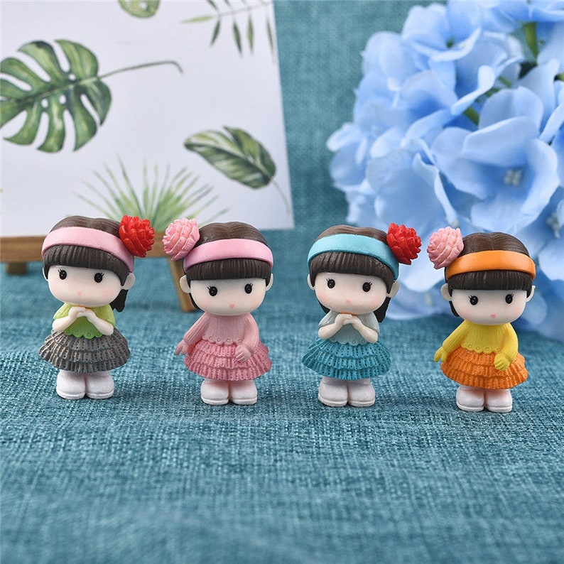 Sitting Dog Toy Miniature Figurine Bonsai Decoration Resin Craft Toy Ornaments