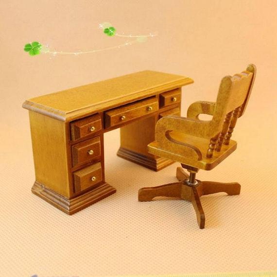 1 Set Dollhouse Miniature Furniture Wooden Toy 3d Diy Dolls Etsy