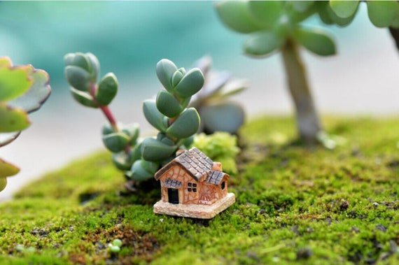 3 Sizes Mushroom Miniature Garden Ornament DIY Craft Pot Fairy Dollhouse Deco AL