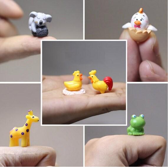 Animal Miniature Terrarium Accessories Fairy Garden Figurines Etsy