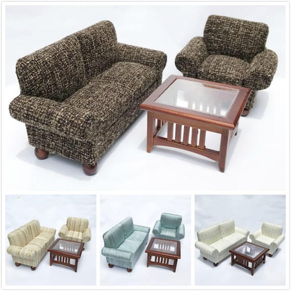 Phenomenal 1 12 Dollhouse Miniature Sofa For Dolls Furniture Toy Wooden Living Room Sofa Table Set Kids Pretend Play Toys For Girls Ts Beatyapartments Chair Design Images Beatyapartmentscom
