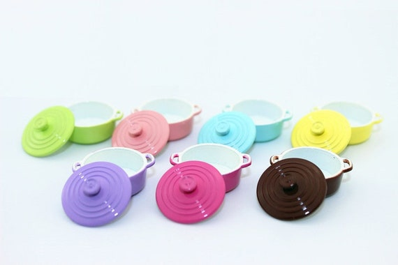 1 12 Dollhouse Miniature Kitchen Utensils Cooking Ware Mini Pot Boiler Pan With Lid Doll House Accessories Play Kitchen Toy Hot