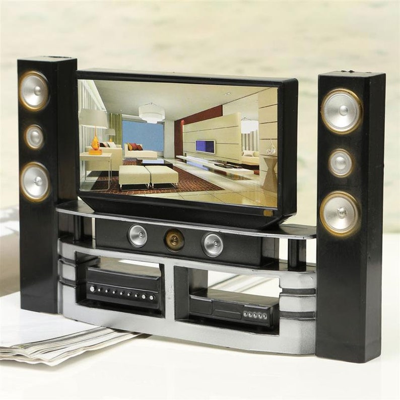 Mini Hi Fi 1:6 TV Home Theater Cabinet Set Combo For Barbie Dolls  Accessories House Dollhouse Furniture Baby Toys