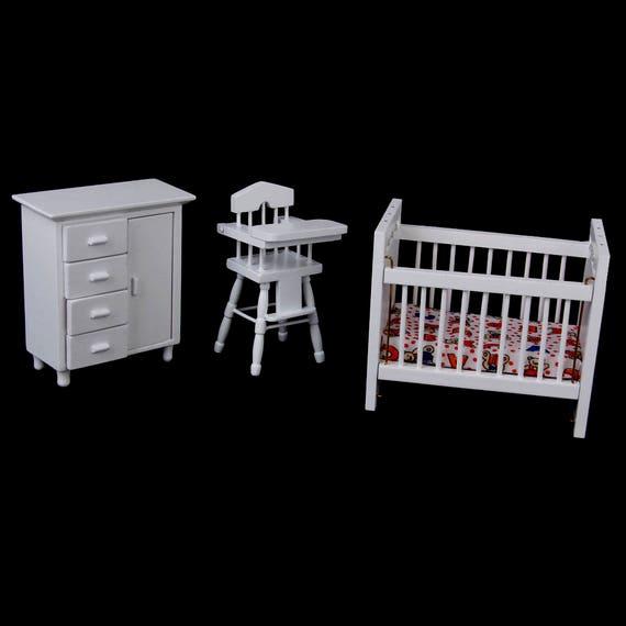 Möbel 1:12 Puppenhaus Miniatur Möbel Set Holz Europäischen Retro Schlafzimmer