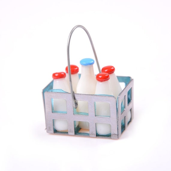 5pcs 1:12 Scale Dollhouse Miniatures Milk Bottle Doll House Accessories