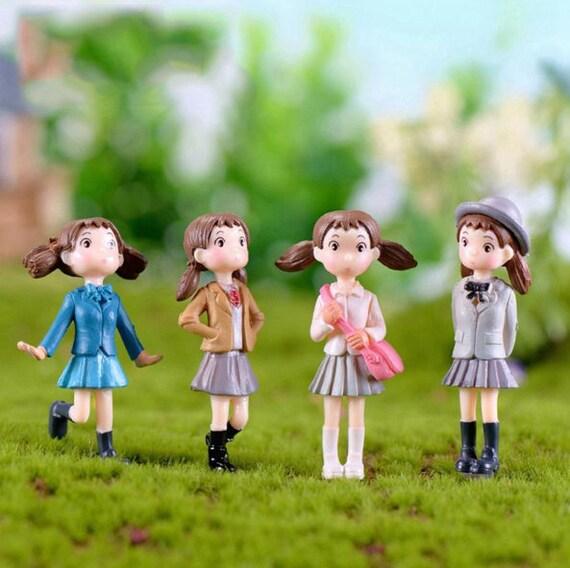 4Pcs/Set Fairy Garden Figurines Miniature Hayao Miyazaki Angel | Etsy
