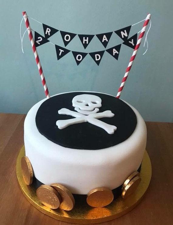 Brilliant Pirate Themed Cake Bunting Cake Topper Swash Buckle Jake Etsy Personalised Birthday Cards Fashionlily Jamesorg