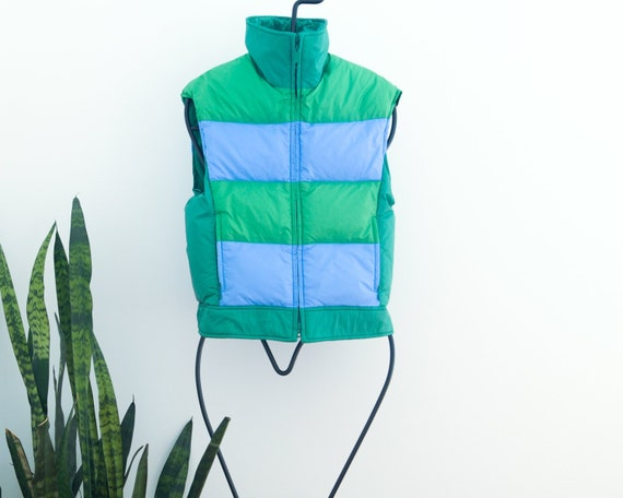 80s Vintage Ladies Down Vest Jacket // Slalom Bran