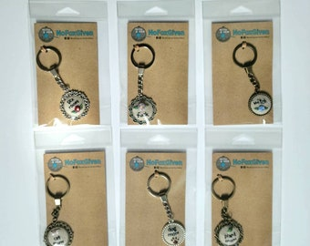 Embroidered keychain (ROUNDS)