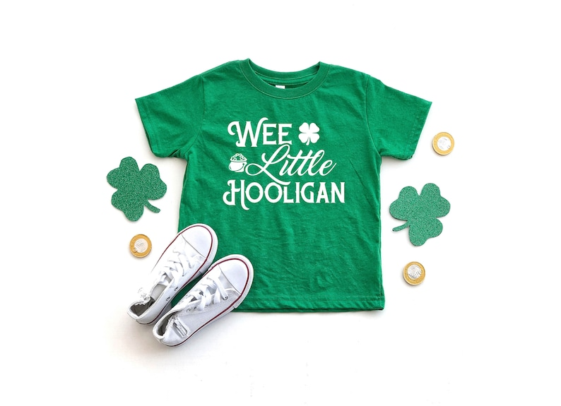 8040614aa Wee Little Hooligan St Patricks Day Toddler Shirt For Boys | Etsy