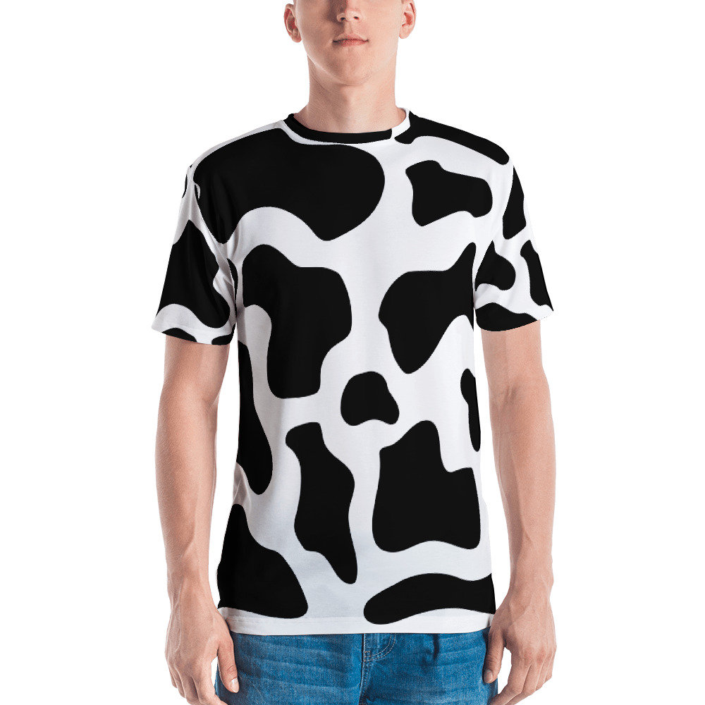 Cow Costume T Shirt Funny Cute Animal Pattern Funny Halloween Etsy