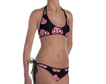 Troubled heart  women's hot laced bikini LIMITED