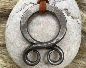 Big Sterling silver Viking Troll Cross viking pendant FREE SHIPPING