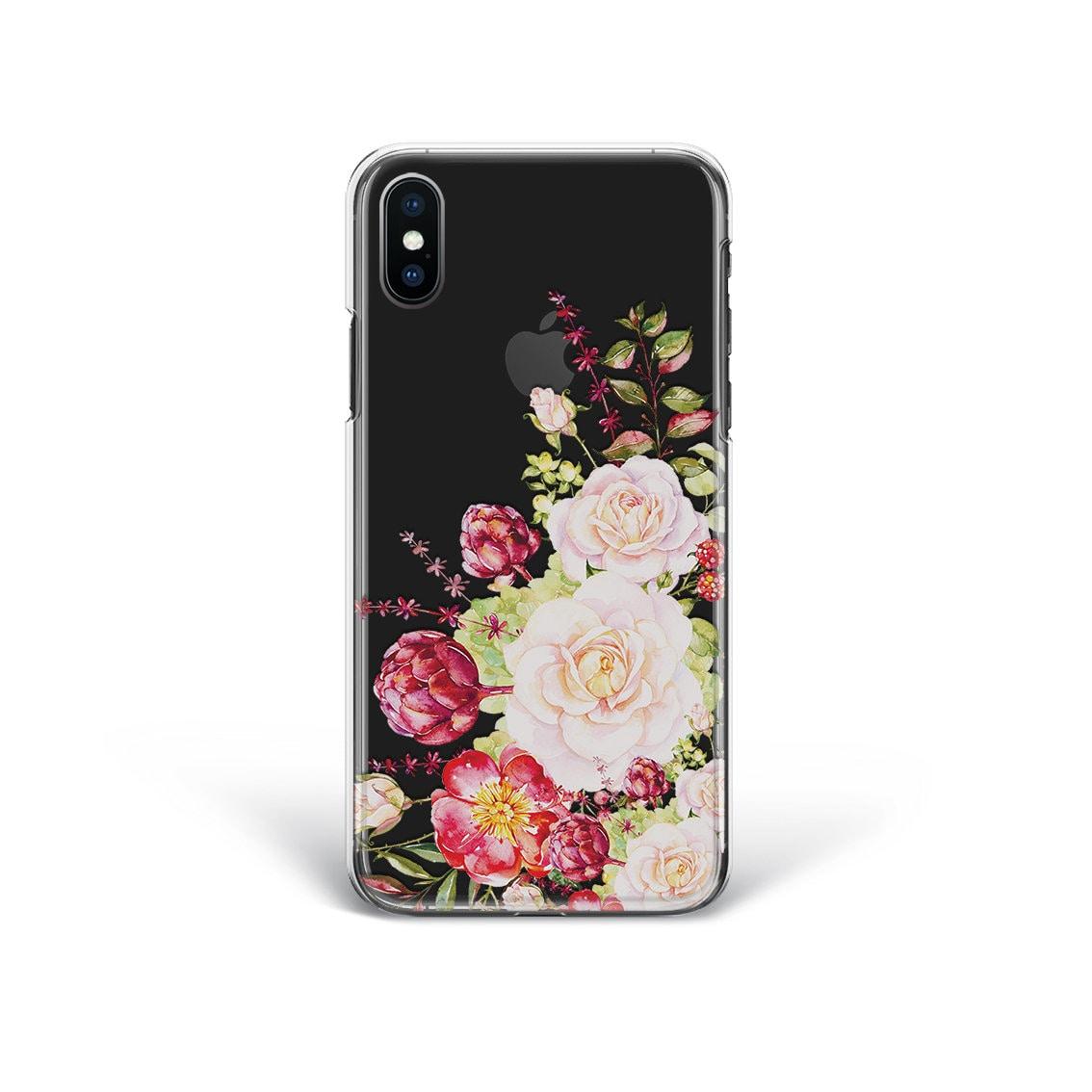 Iphone 8 Case Floral Iphone 7 Plus Case Flowers Google Pixel Etsy